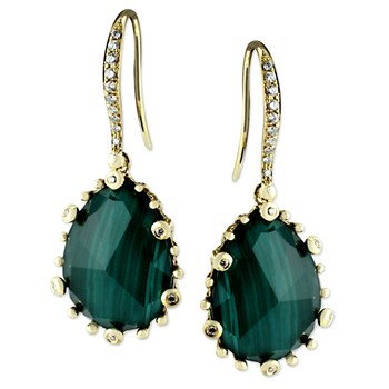 Malachite Earrings-345576
