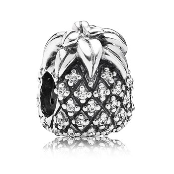 347057-PANDORA Pineapple with Clear CZ Charm