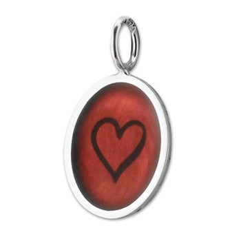 347335-Red Enamel Heart Charm