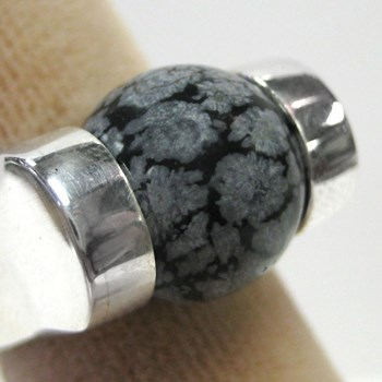 172073-172073-SNOWFLAKE OBSIDIAN BALL-ei-$15.00 ONLY 3 AVAILABLE!