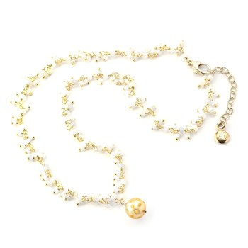 Pearl & Moonstone Necklace-348526