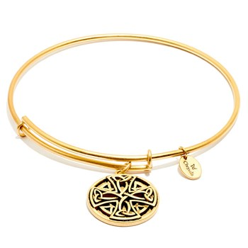 Celtic Cross Gold Bangle