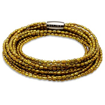 STORY by Kranz & Ziegler 5 Strand Olive Pearl Bracelet RETIRED ONLY 2 LEFT!