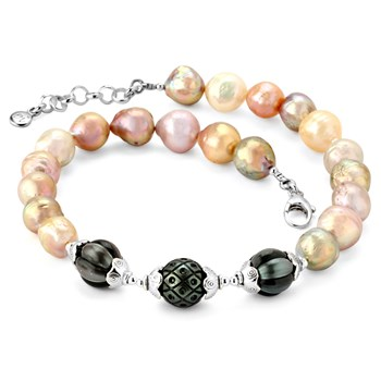 Fireball & Tahitian Pearl Necklace-346325