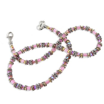Miyuki Breast Cancer Awareness Necklace-175401
