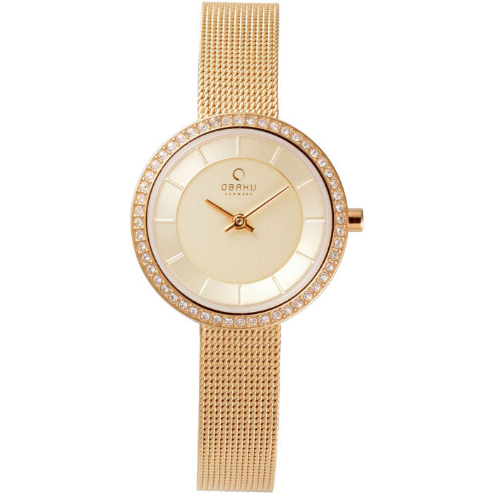 500-30-Obaku Women's Gold Mesh Watch