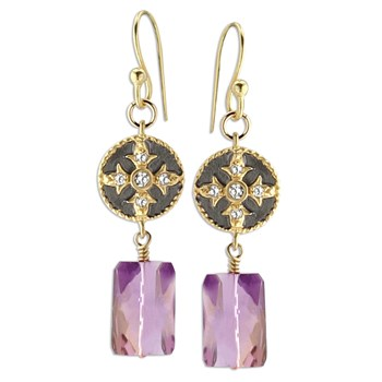 349346-Maltese Cross Ametrine Earrings