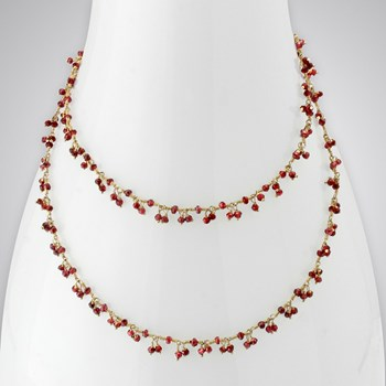 Rhodilite Garnet 14KTGF Necklace