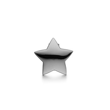 STORY by Kranz & Ziegler Black Rhodium Chubby Star Button