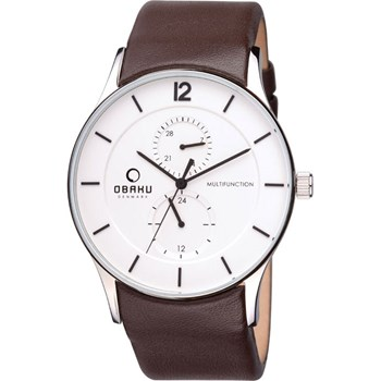 505-2-Men's Brown Leather Watch