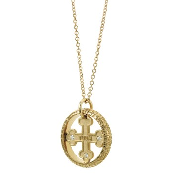 Our Father Mini Gold & Diamond Necklace