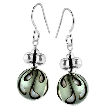 Black Pearl Earrings-347629