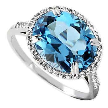 Swiss Blue Topaz Ring-347119