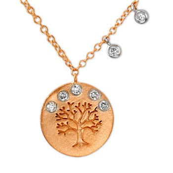 Rose Gold Tree of Life Necklace-338577