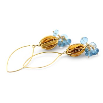210-608-Blue Topaz Earrings
