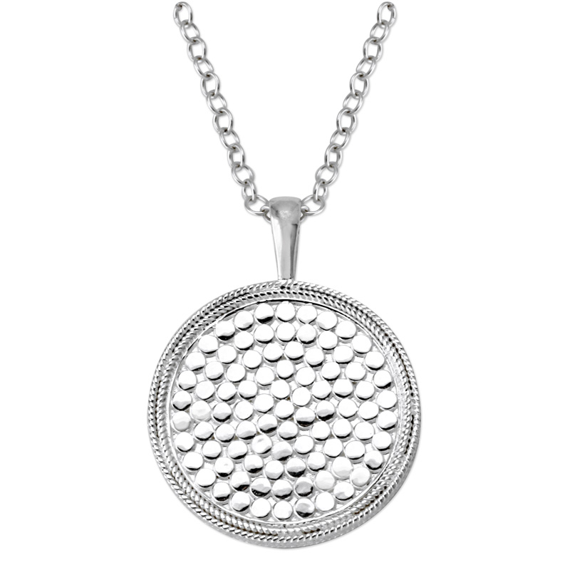 345292-Anna Beck Silver Wire Rimmed Medallion Pendant