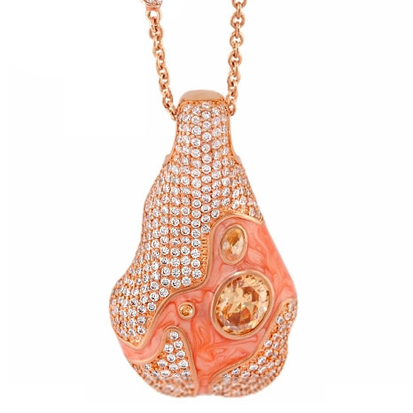342353-Rose Gold 'Fire and Ice' Necklace