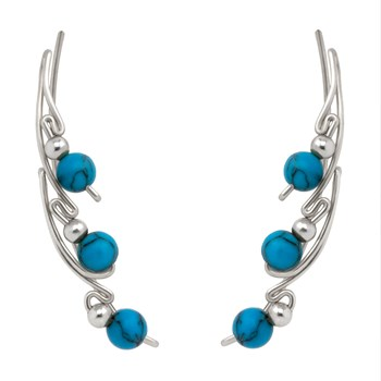 Turquoise Silver Ear Climber