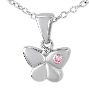 339232-Pink Sapphire Butterfly Necklace