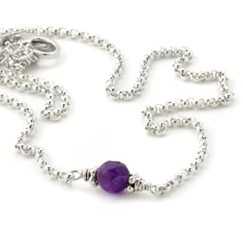 Amethyst Petite Necklace