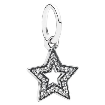 348245-PANDORA Symbol of Aspiration Star with Clear CZ Pendant