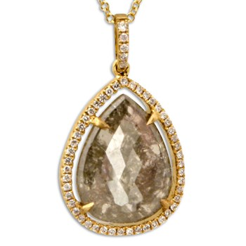 Raw Diamond Necklace-334979