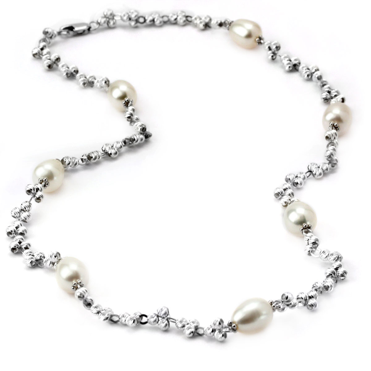 340582-Pearl & SS Necklace