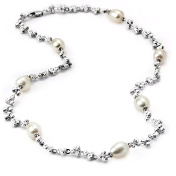 Pearl & SS Necklace-340582