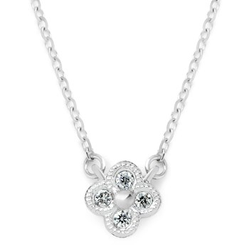 White Gold & Diamond Necklace-165-97