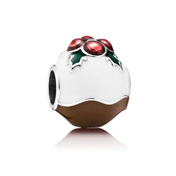 802-1748-PANDORA Christmas Pudding with Enamel Charm