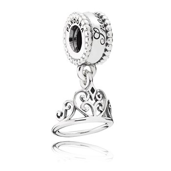 PANDORA Disney Snow White's Tiara Dangle RETIRED-802-2886