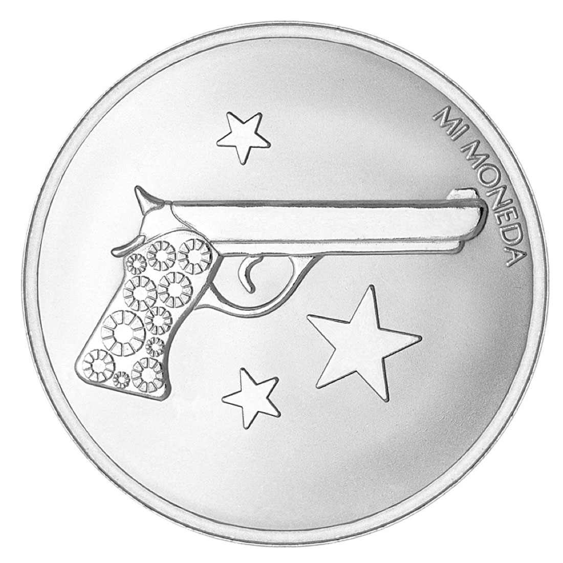 Mi Moneda Aim High & Pistol Silver-Plated Disc - ONLY 2 LEFT