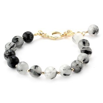 Lollies Black Rutilated Quartz Bracelet 346108