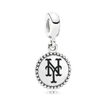 345420-PANDORA New York Mets Baseball Charm RETIRED