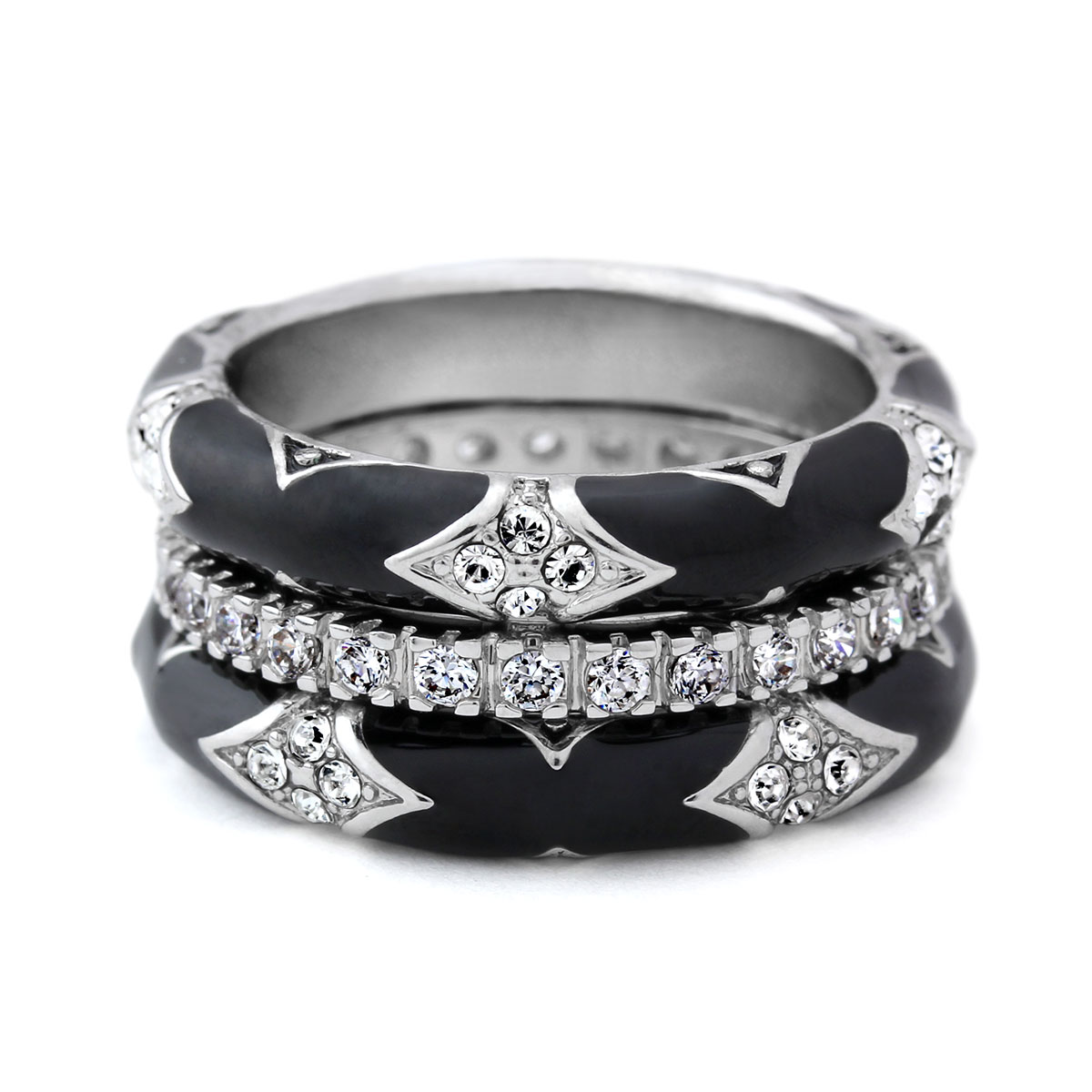 344078-Black 'Fiesta' Ring Set