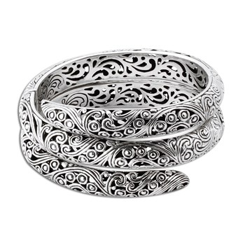 Sterling Silver Wrapped Bangle-347983
