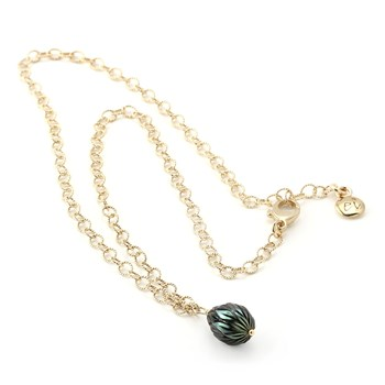 Black Pearl Necklace-325-242