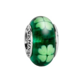 340123-PANDORA Kiss Me I'm Irish Murano Glass