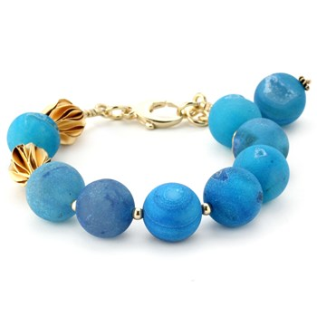 Lollies Blue Drusy Bracelet 344490