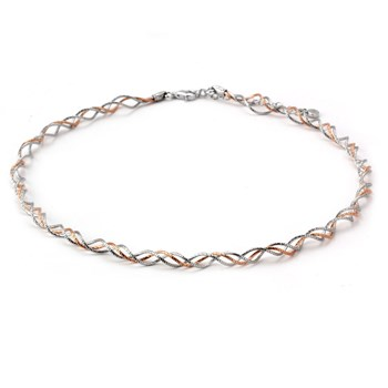 Rose Gold and Silver Omega-343537