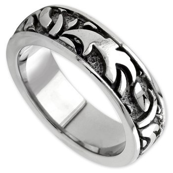 342377-Edward Mirell Men's Grey Titanium Ring