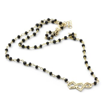 Abstract Black Onyx Necklace-235-608