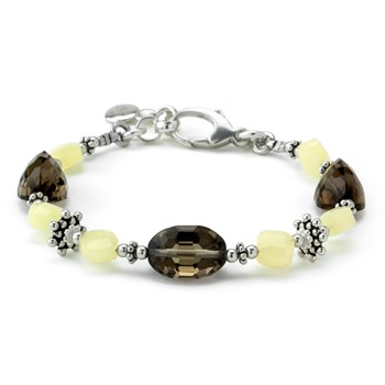 Pineapple & Smokey Quartz Bracelet 240-3395