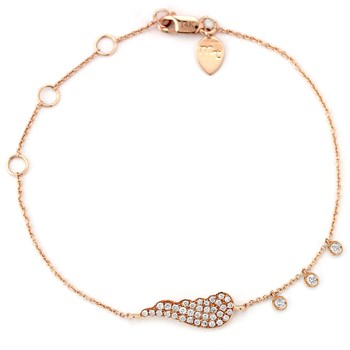 341857-Diamond Angel Wing Bracelet