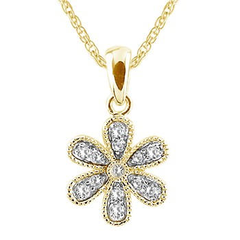 Diamond Flower Pendant-341548