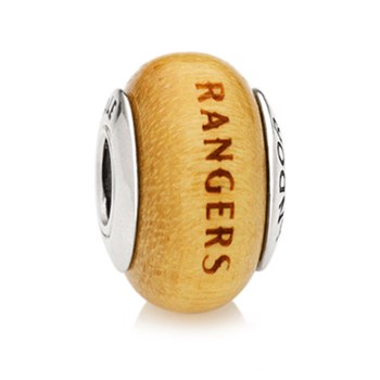 PANDORA Texas Rangers Baseball Wood Charm RETIRED LIMITED QUANTITIES!-345572