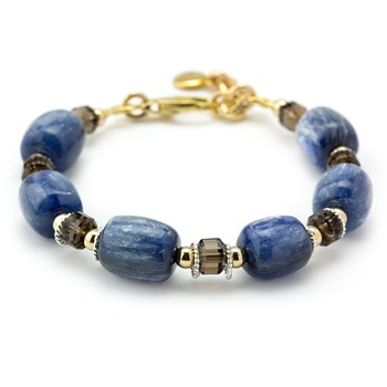Kyanite & Smokey Quartz Bracelet-240-3351