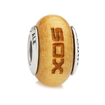 PANDORA Chicago White Sox Baseball Wood Charm LIMITED QUANTITIES!-345550