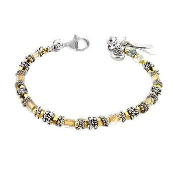 179157-Childhood Cancer - Miyuki Style Awareness Bracelet