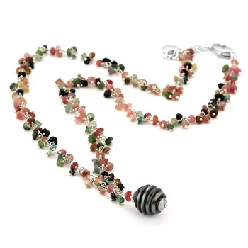 Tourmaline & Pearl Necklace-347621